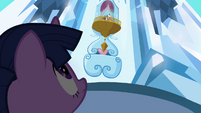 Shining Armor talks to Twilight from above S3E2