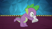 Spike hyperventilates into a paper bag BFHHS5