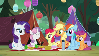 The pony sisters' camping trip begins S7E16