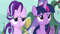 Twilight and Starlight feel sorry for Fluttershy S7E14