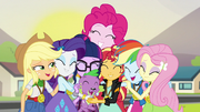 Twilight is welcomed by the Mane 6 EG3.png
