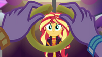 Twilight makes a circle with french fry EGSBP