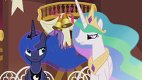 Celestia -next time you can just bring your own gift- S5E9
