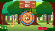 SunsetShimmer Applepicking win MLPMobileApp.png