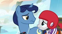 Velvet and Night Light look at each other unconvinced S7E22