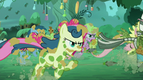 Zecora and ponies run S5E26
