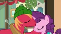 Big Mac kissing Sugar Belle's forehead MLPBGE
