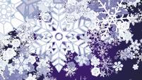 Dense snowflake scene transition S6E16