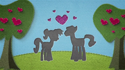 Felt cutout of two ponies falling in love BFHHS1.png