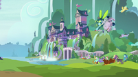 Insect-Ocellus swerves into a school tower S8E1