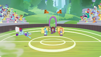 Ocellus flipping onto the field S9E15