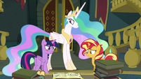 Sunset compliments Twilight's teaching EGFF