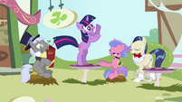 Twilight dancing on the table S3E13