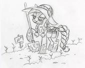 Applejack in the Garden Sketch