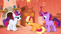 Rarity, Applejack and Twilight makeovers S01E08.png