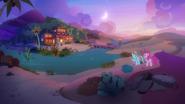S07E18 Rainbow i Pinkie zmierzają do gospody