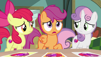 Scootaloo stunned at Snap Shutter's words S9E12