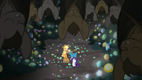 Bats sleeping on the cave ceiling S9E19