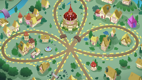 Bird's-eye view of Applewood Derby racetrack S6E14.png