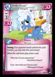Fluffy Clouds, Summit Delegate card MLP CCG.jpg