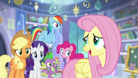 "Fluttershy ""I'm always less scared"" S9E25"