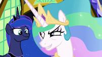 Princess Celestia looking for danger S9E13