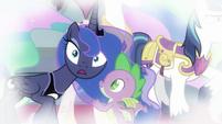 Princess Luna looking very surprised S9E4