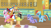 Quibble, Sky, Wind, and RD enter the museum S9E6