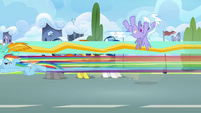 Rainbow and Lightning flies past Cloudchaser S3E07