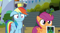 Scootaloo with Washouts picture in her mouth S8E20