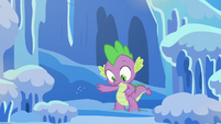 Spike's reflection dusts himself off S6E16