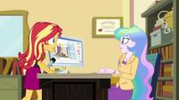 Sunset Shimmer enters Celestia's office EGDS37