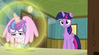 Twilight Sparkle apologizes to Flurry Heart S7E3