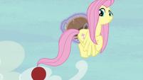 Applejack flings the ball toward Pinkie S6E18