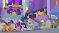 Main five and Spike drop on the ground S9E17
