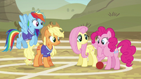 Pinkie Pie considering Snails' words S6E18