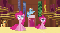 Rainbow 'Somepony's making balloon animals!' S3E3