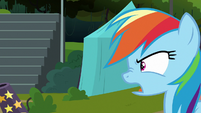 Rainbow Dash angry to see Lightning Dust S8E20