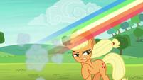 Rainbow speeds away from Applejack S8E9