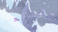 Snow hanging over Starlight Glimmer S9E24