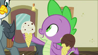 Spike -started writing back and forth- S9E19