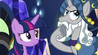 Star Swirl thinking about Twilight's theory S7E26