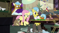 "Fluttershy ""everyone back to sleep now"" S7E5"