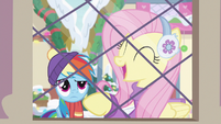 """Fluttershy answers """"not liking things!"""" MLPBGE"""