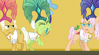 Granny pulls Rainbow down by the tail S8E5