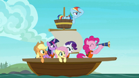Mane Six on a small sailboat S7E2