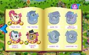 Pony Tones, Pie family, and Betty Bouffant album art MLP mobile game