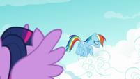 Rainbow Dash sighing with shame S8E20