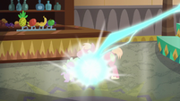 Spike and Big Mac zapped by Discord S6E17