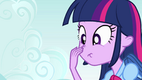 Twilight touches her nose EG